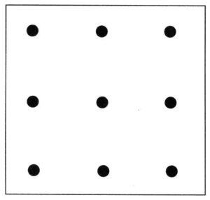 nine dot puzzle solution