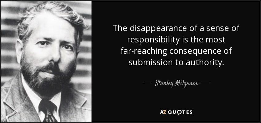 Milgram quote